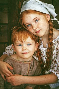 freckled siblings